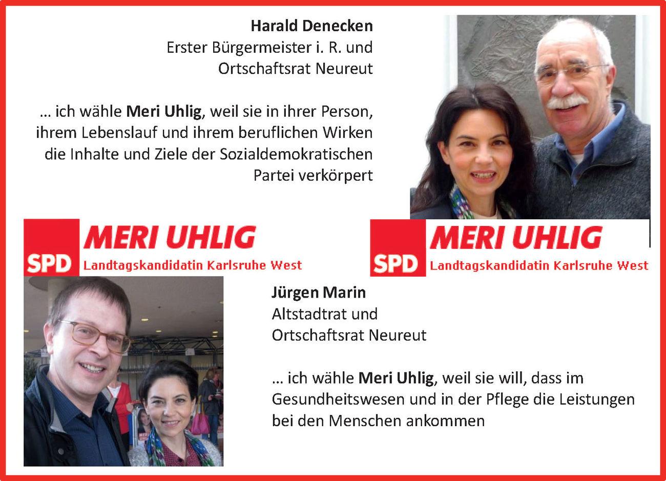 Harald Denecken und Jürgen Marin für Meri Uhlig