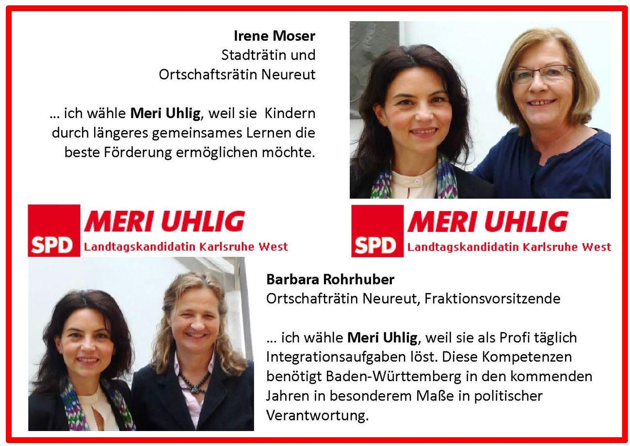Irene Moser und Barbara Rohrhuber für Meri Uhlig